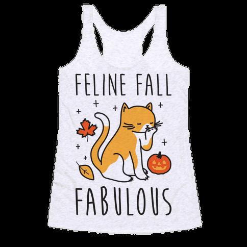 Feline Fall Fabulous Racerback Tank Top