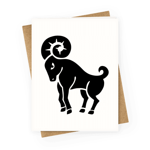 Zodiacs Of The Hidden Temple - Aries Ram Greeting Card