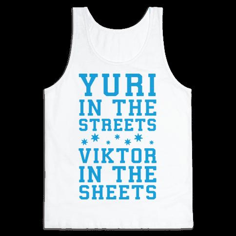 Yuri In The Streets Viktor In The Sheets Tank Top