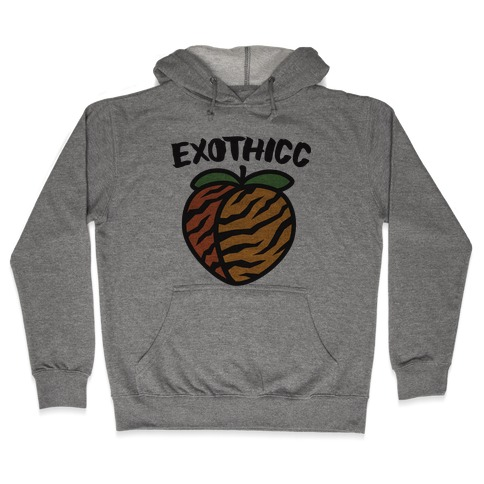 Exothicc Tiger Peach Hooded Sweatshirt
