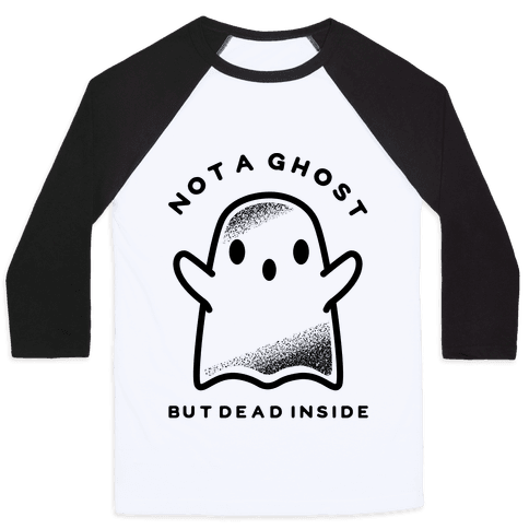Not A Ghost Baseball Tee