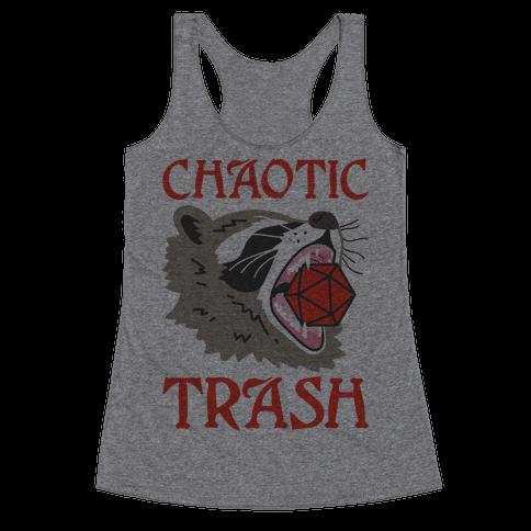 Chaotic Trash (Raccoon) Racerback Tank Top