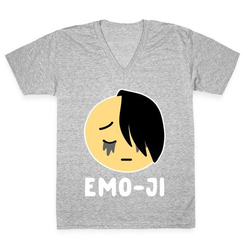 Emo-ji V-Neck Tee Shirt