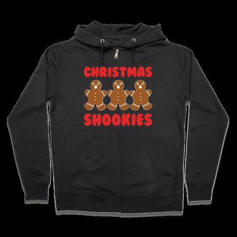 Christmas Shookies  Zip Hoodie