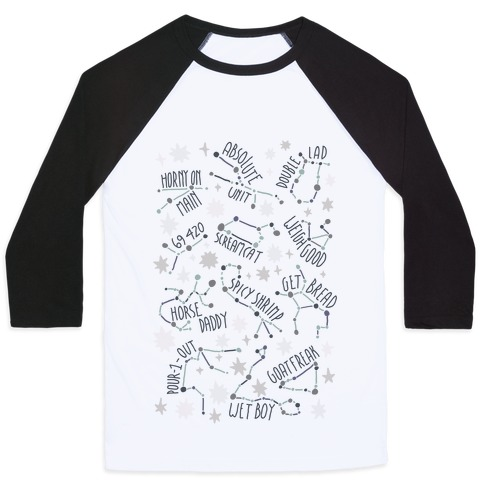 Asstrology Constellations Baseball Tee
