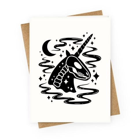 Spooky Ghost Unicorn Greeting Card