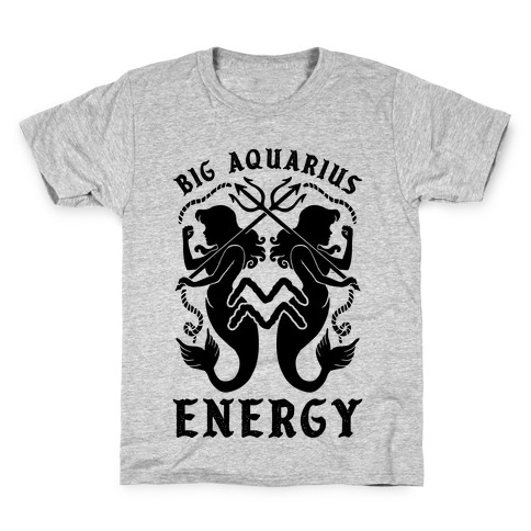 Big Aquarius Energy Kids T-Shirt