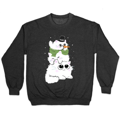 Cat Stack Snowman Pullover