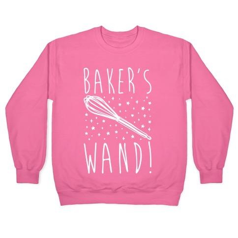 Baker's Wand White Print Pullover
