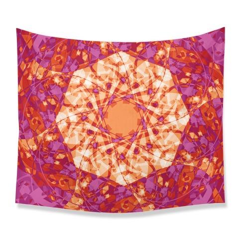 Psychadelic Mandala Tapestry