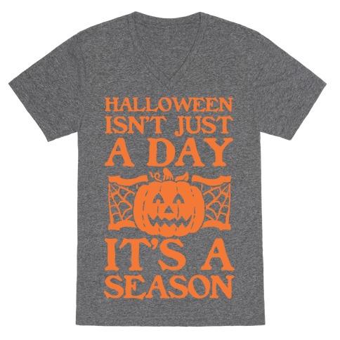 Halloween is a Season V-Neck Tee Shirt