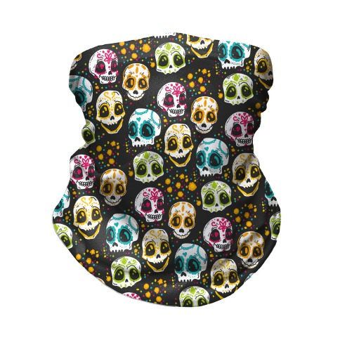 Day Of The Dead Skulls Neck Gaiter