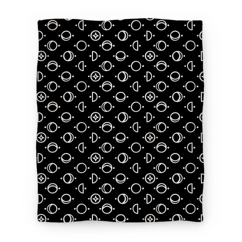 Moon Glyphs Pattern Blanket