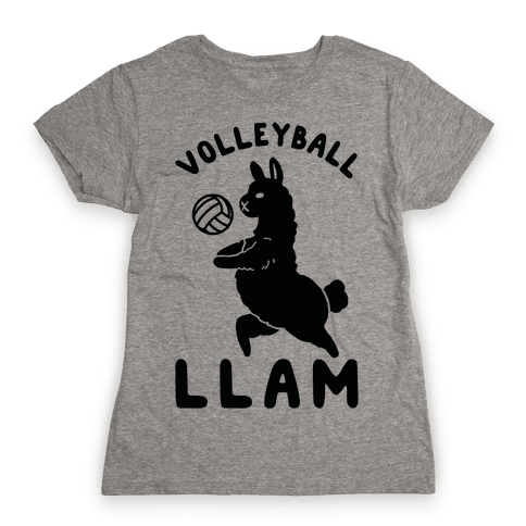 Volleyball Llam Womens T-Shirt