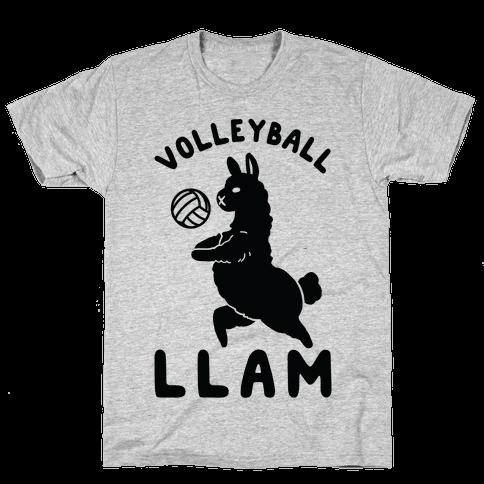 Volleyball Llam Mens T-Shirt