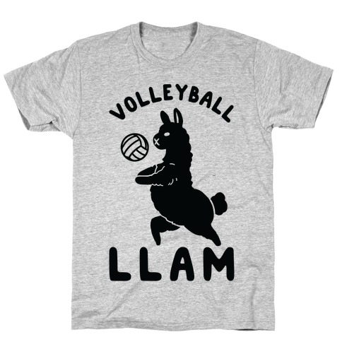 Volleyball Llam Mens T-Shirt