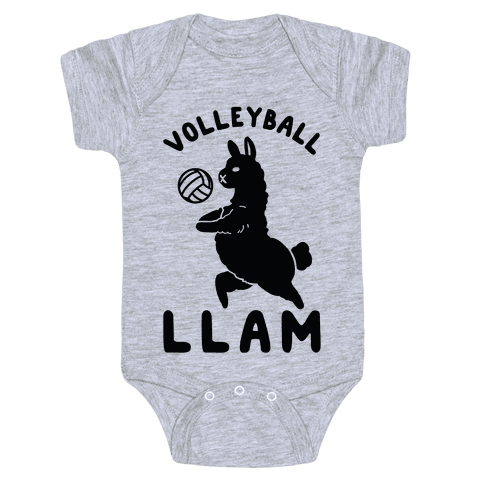 Volleyball Llam Baby Onesy