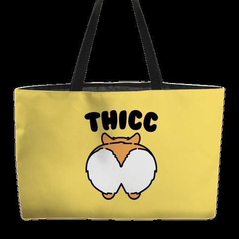 Thicc Corgi Butt Parody Weekender Tote