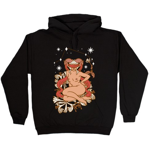 Zodiac Pinup Aries Hooded Sweatshirt