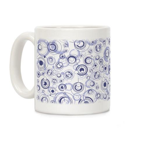 Gallifreyan Text Pattern Coffee Mug