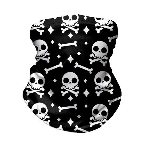 Cute Skull N' Bones Pattern (Black) Neck Gaiter