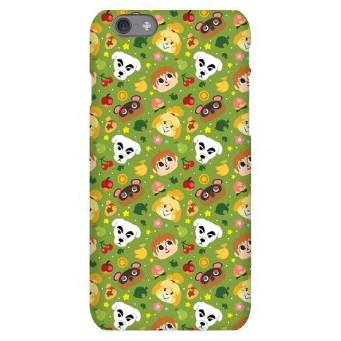 Animal Crossing Pattern Phone Case