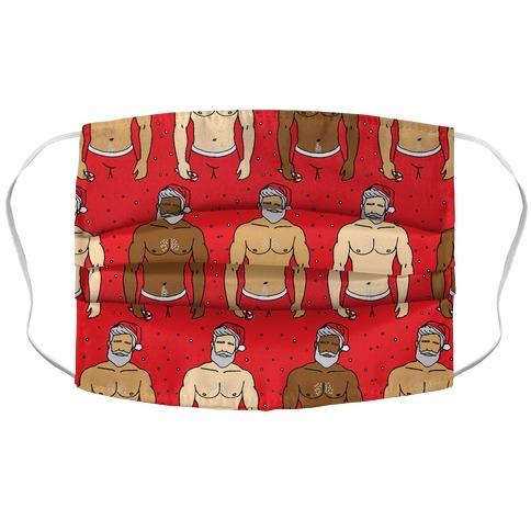 Santa Daddies Pattern Accordion Face Mask