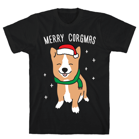 Merry Corgmas Mens T-Shirt