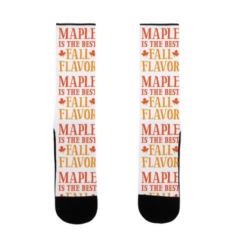 Maple Is The Best Fall Flavor Sock