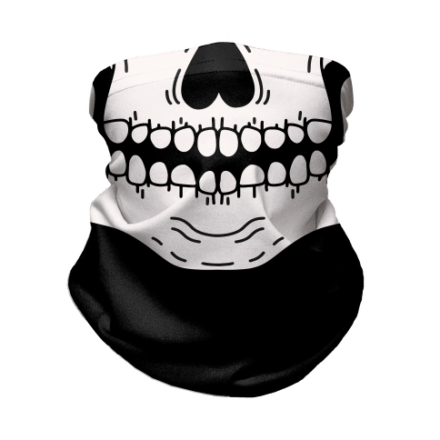 Skeleton Mouth Neck Gaiter