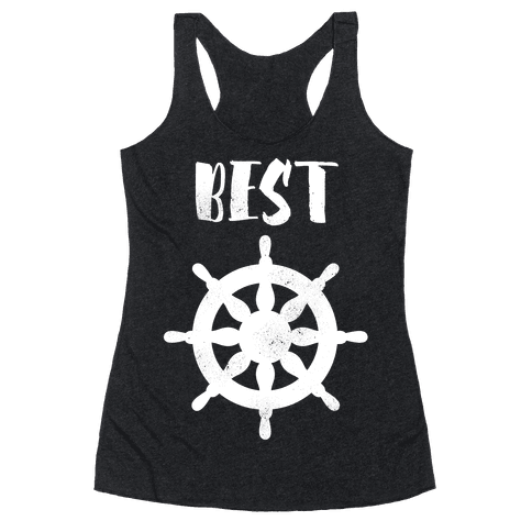 Best Mates Wheel  Racerback Tank Top
