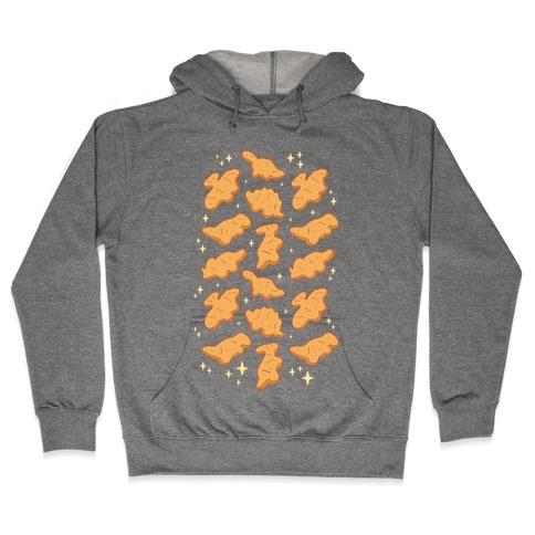 Dino Nuggies Pattern Hooded Sweatshirt