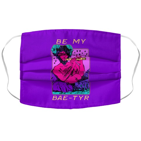 Be My Bae-tyr Valentine Satyr Accordion Face Mask