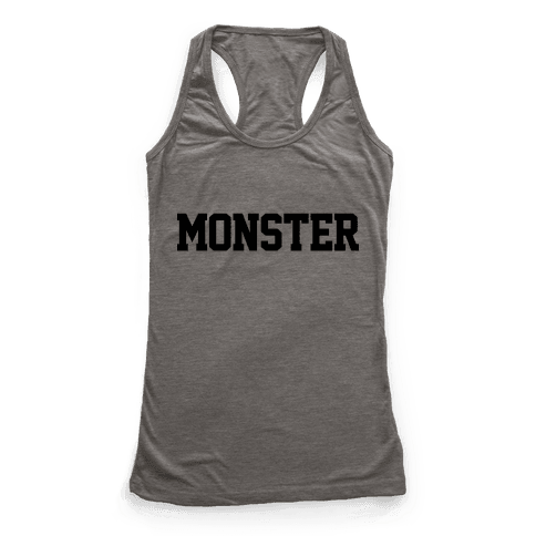 Monster Text Racerback Tank Top