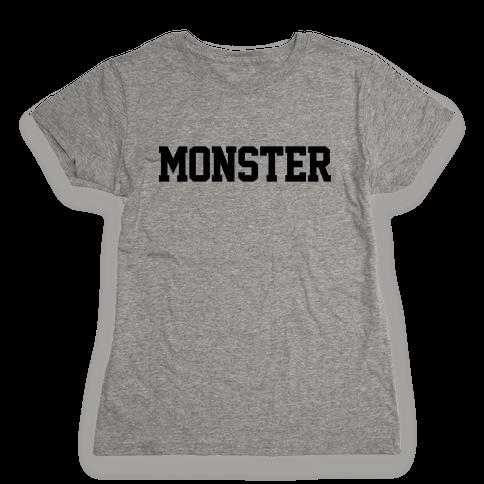 Monster Text Womens T-Shirt