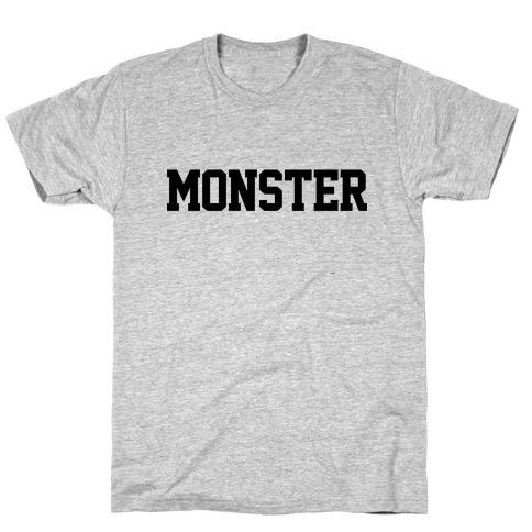 Monster Text Mens/Unisex T-Shirt