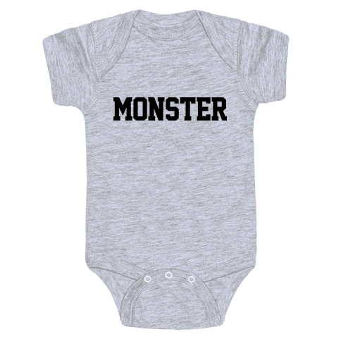 Monster Text Baby Onesy
