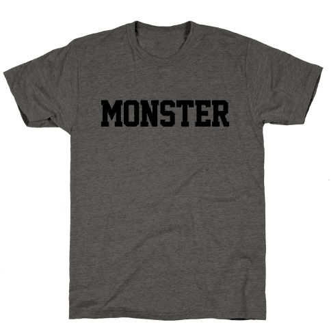 Monster Text Mens T-Shirt