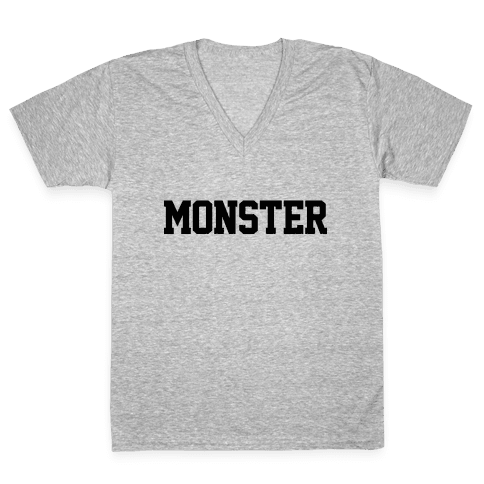 Monster Text V-Neck Tee Shirt