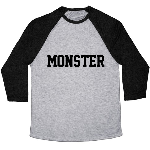 Monster Text Baseball Tee