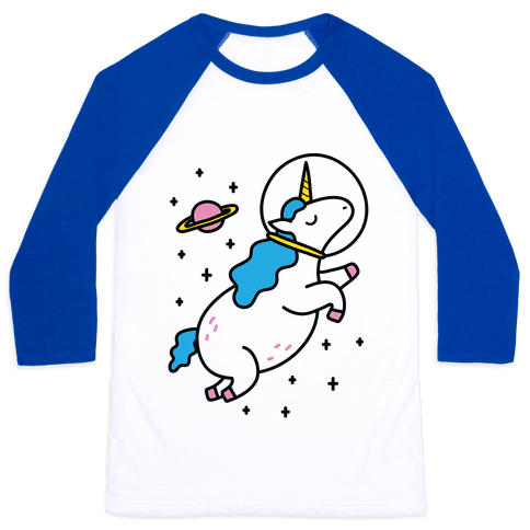 Space Unicorn Baseball Tee