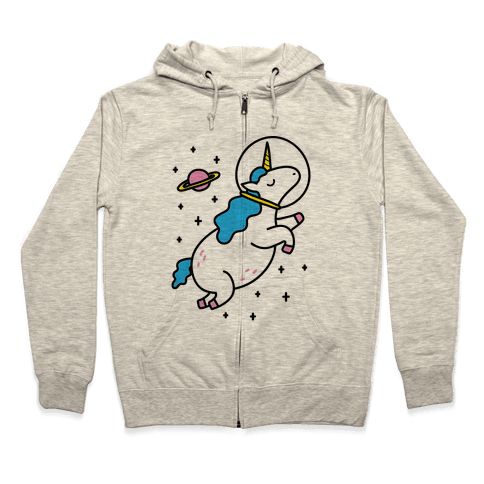 Space Unicorn Zip Hoodie