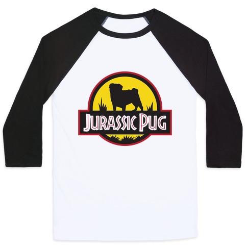 Jurassic Pug Baseball Tee