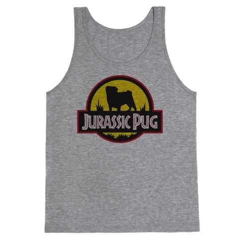 Jurassic Pug Tank Top
