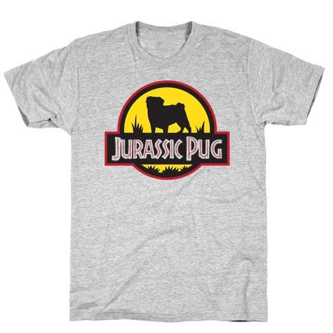 Jurassic Pug Mens T-Shirt