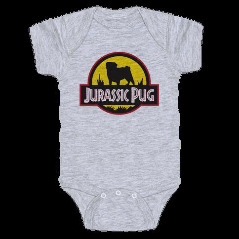 Jurassic Pug Baby Onesy