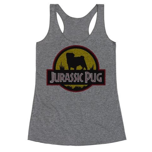 Jurassic Pug Racerback Tank Top
