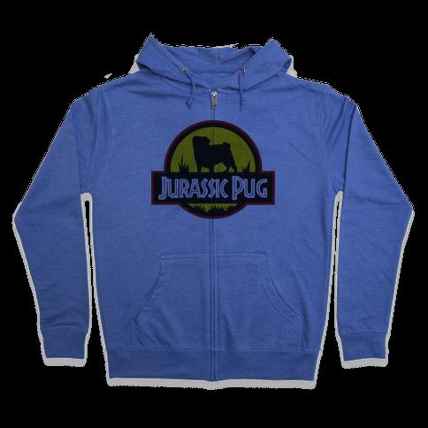 Jurassic Pug Zip Hoodie