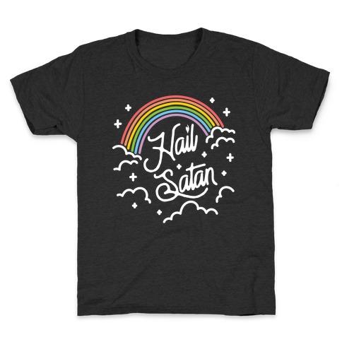 Hail Satan Rainbow Kids T-Shirt