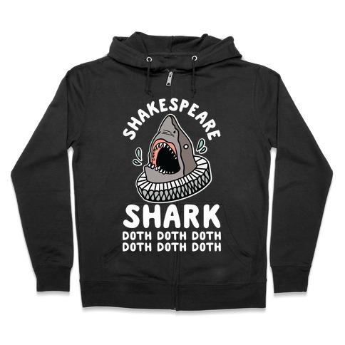 Shakespeare Shark Doth Doth Doth Zip Hoodie